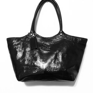 Coach Black Patent Leather Bleeker Purse #12362